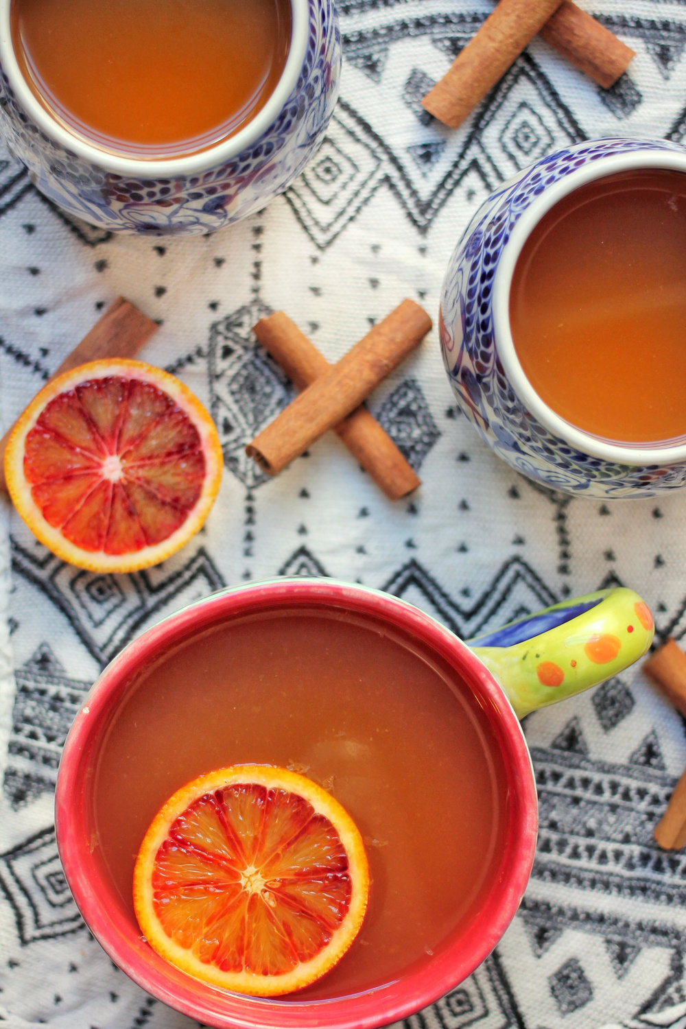 Hot Blood Orange Apple Cider