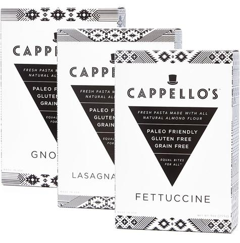 Cappellos Gluten Free Pasta Options