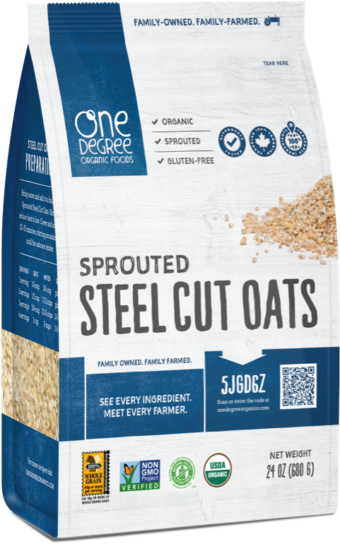 One Degree Organic Foods Steel Cut Oats