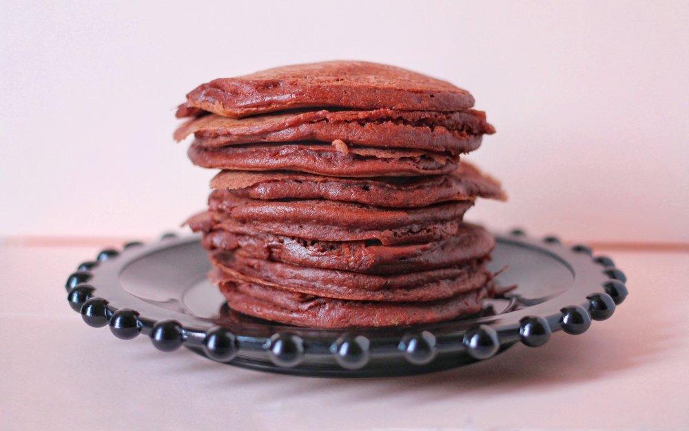 Red Velvet Beet Pancakes