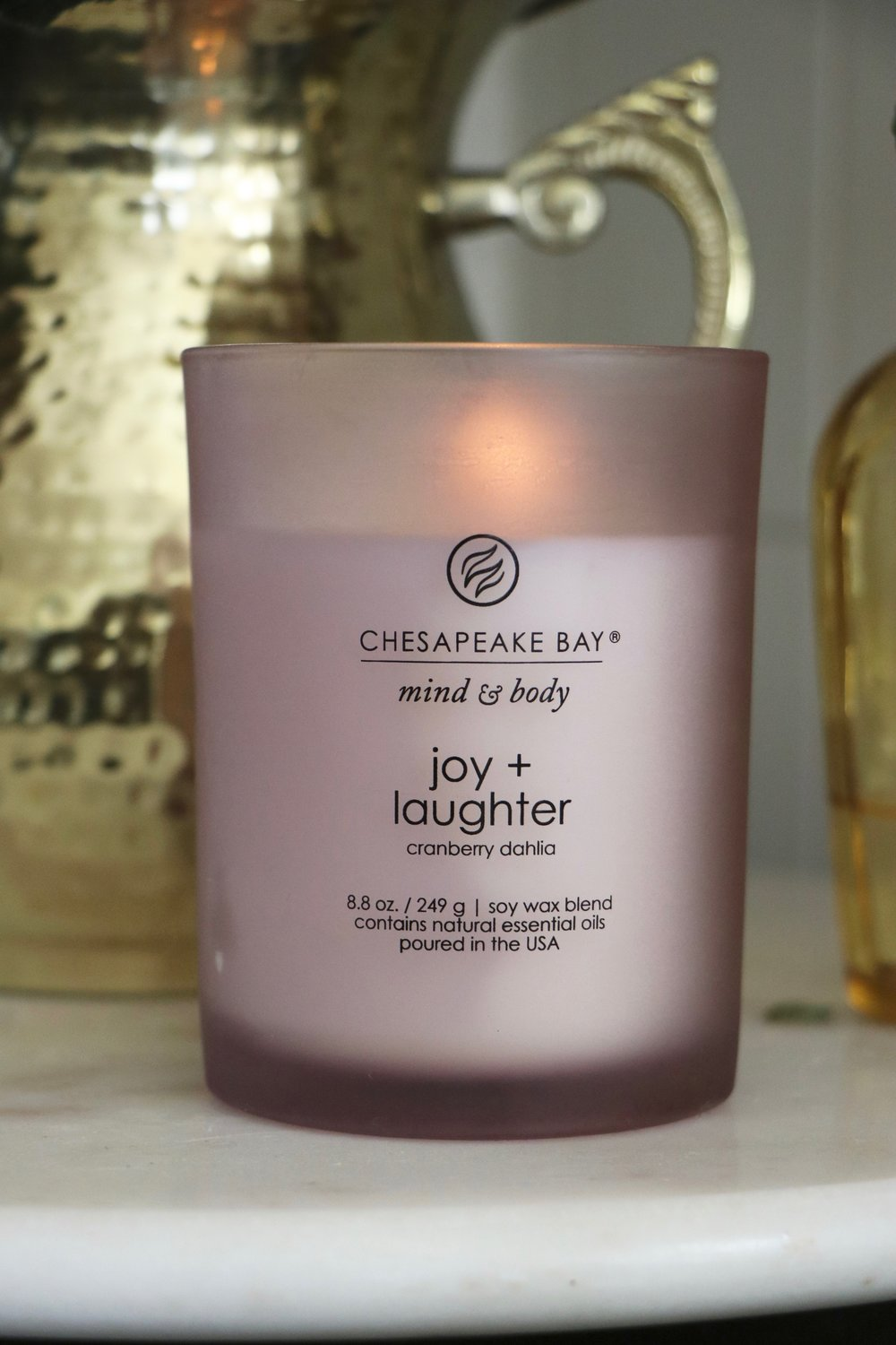 Joy + Laughter Medium Jar Candle  by Chesapeake Bay