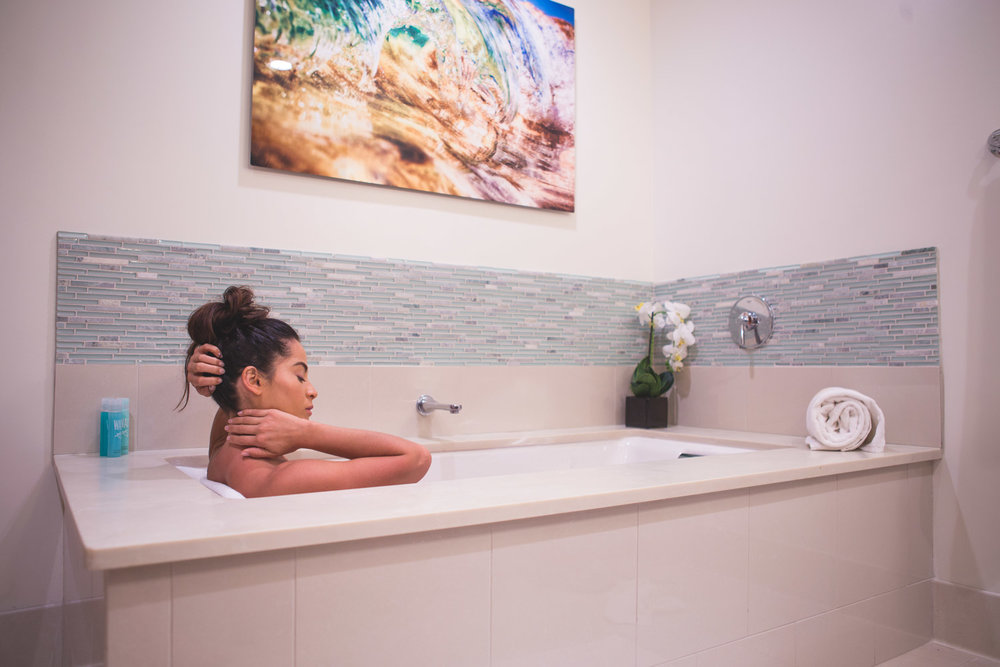 Soak tub at Koloa Landing Resort