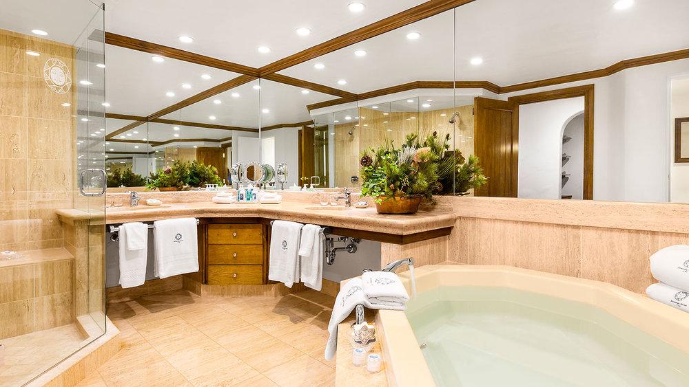 Heated Marble Floors in the bathrooms