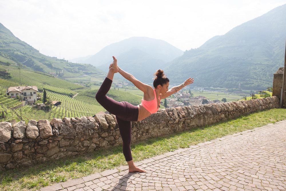 Dancer's pose in Italy