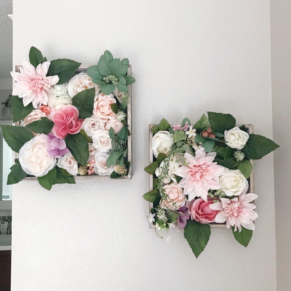 DIY Flower Shadow Box