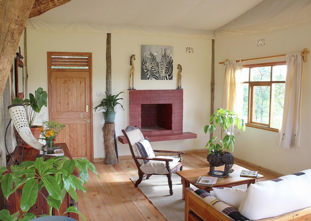 Each cottage has a sitting room and two bedrooms with en suite bathroom.