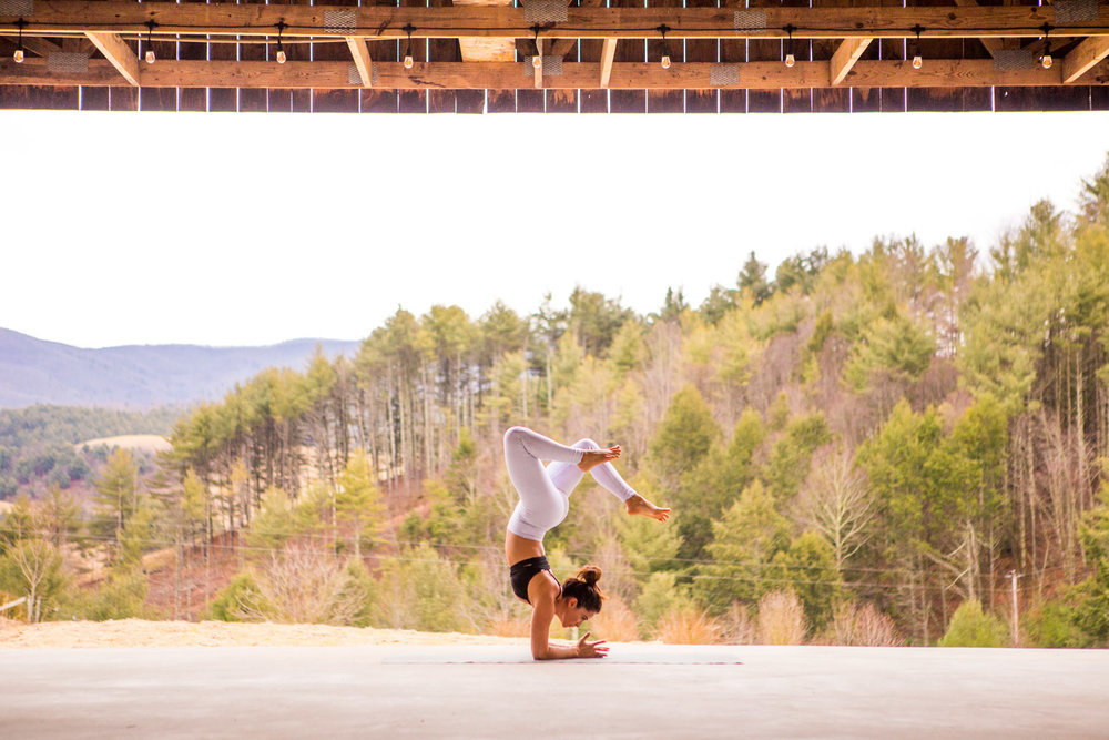 Forearm stand at our venue in Tennessee