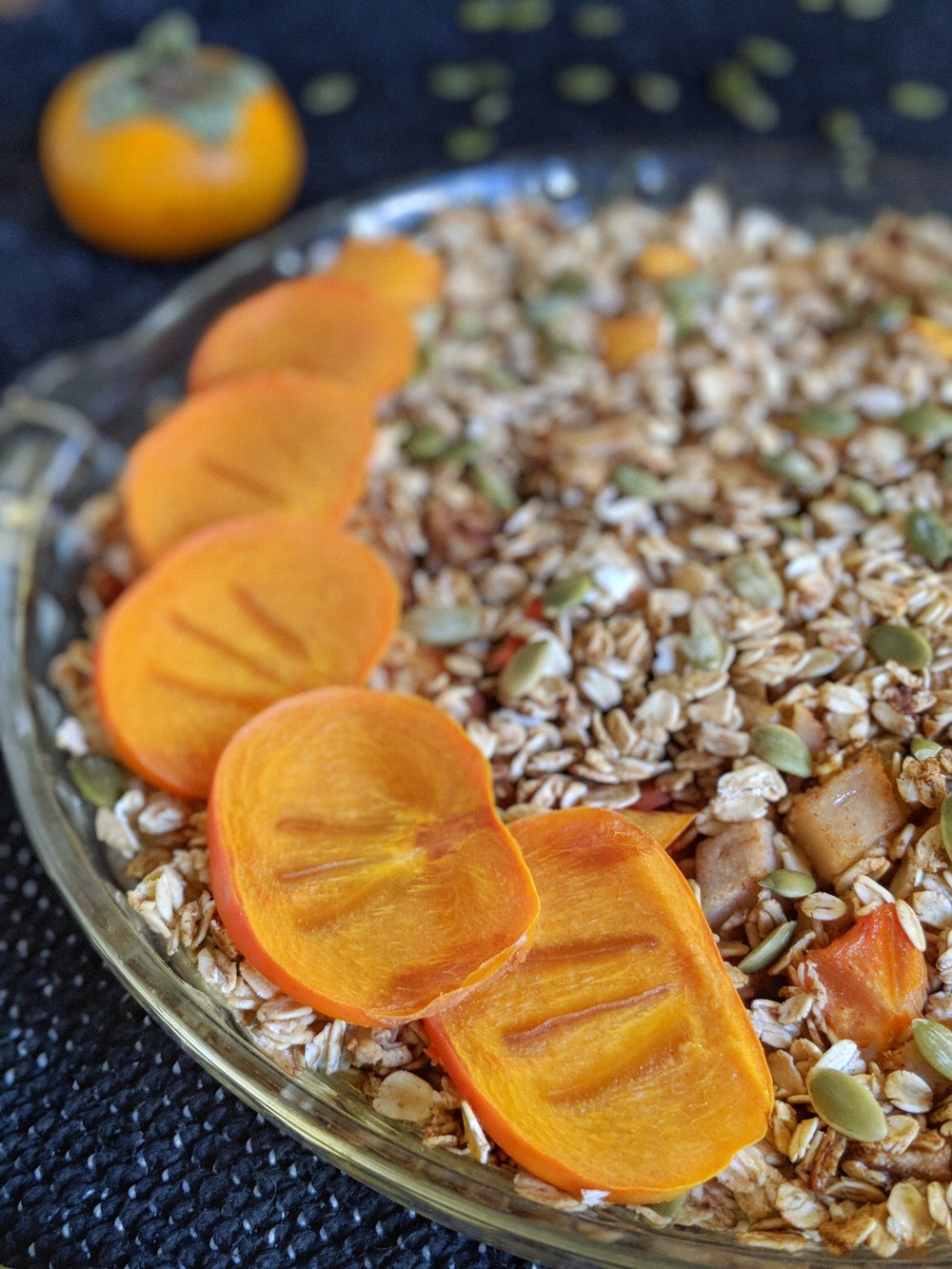 Pear, Persimmon, & Pepita Baked Oatmeal