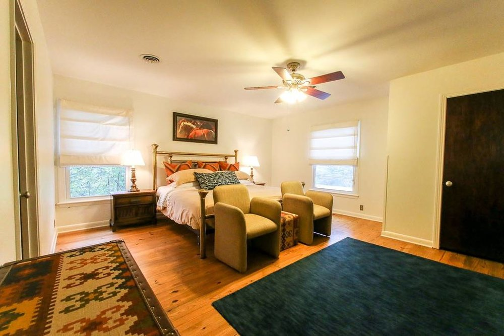 Some accommodations feature private rooms.