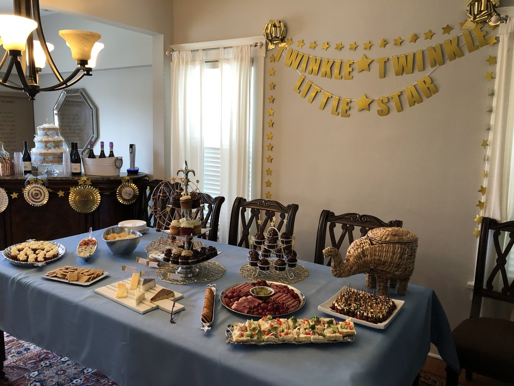 The insanely yummy snack spread at Baby 2's sprinkle (smaller version of a baby shower)