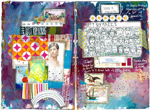 A sampling of Tammy's work in A World of Artist Journal Pages.