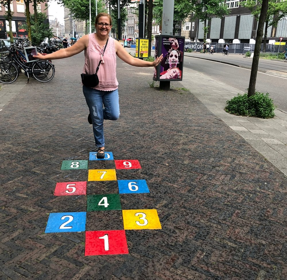 Hopscotch in Amsterdam. Photo by TJ Sokol.