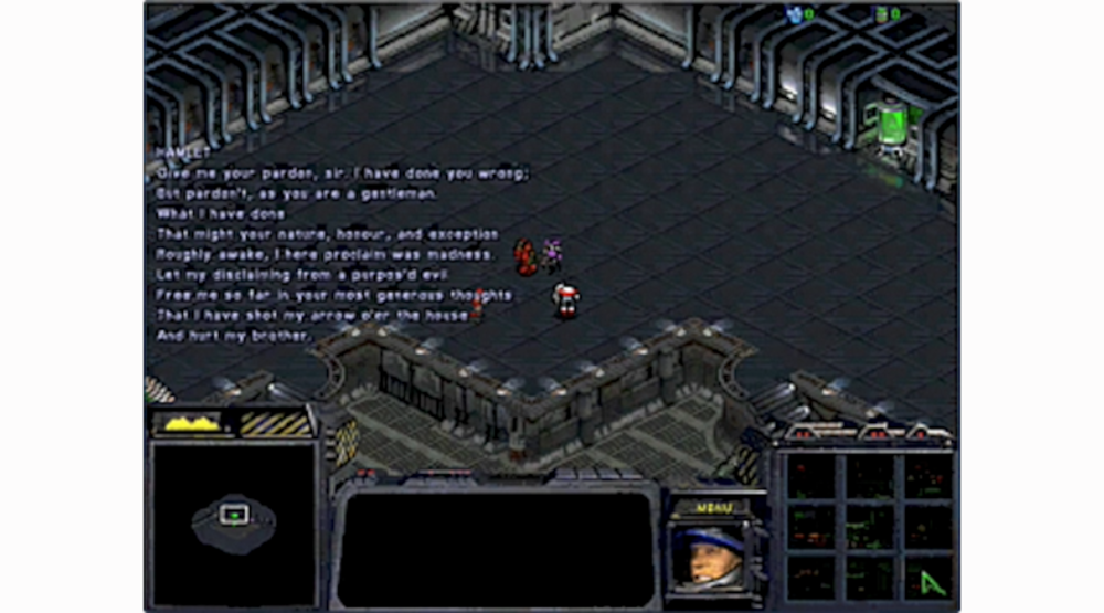 Hamletcraft  - Act V, scene ii of Hamlet, performed entirely in the video game Starcraft