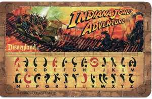 Indiana Jones Adventure Decoder card