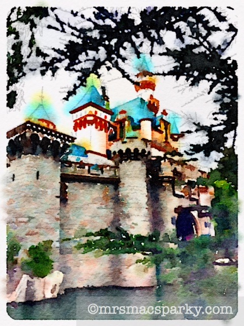 Disneyland photo with Waterlogue