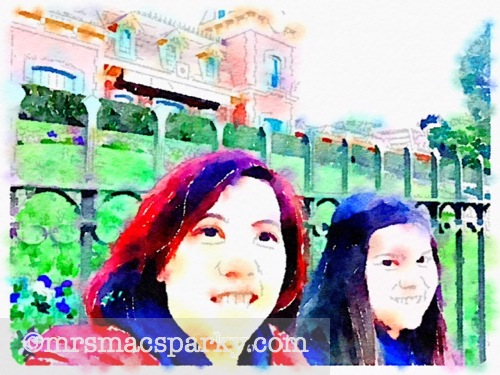 Waterlogue photo with people.