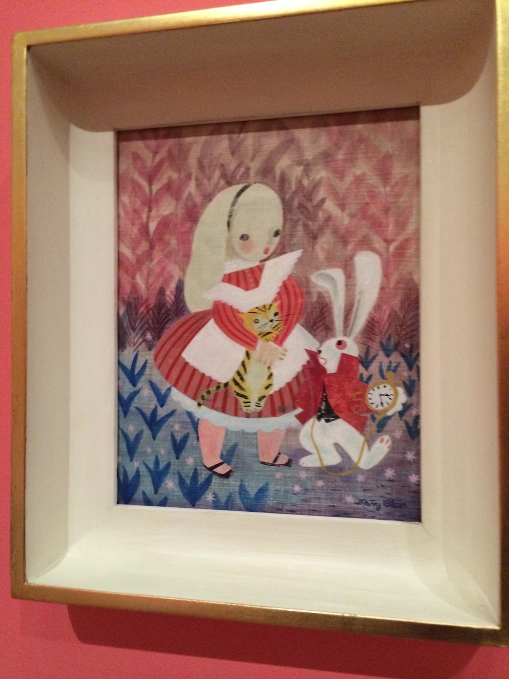 Original Mary Blair portrait c. 1951 - Alice in Wonderland