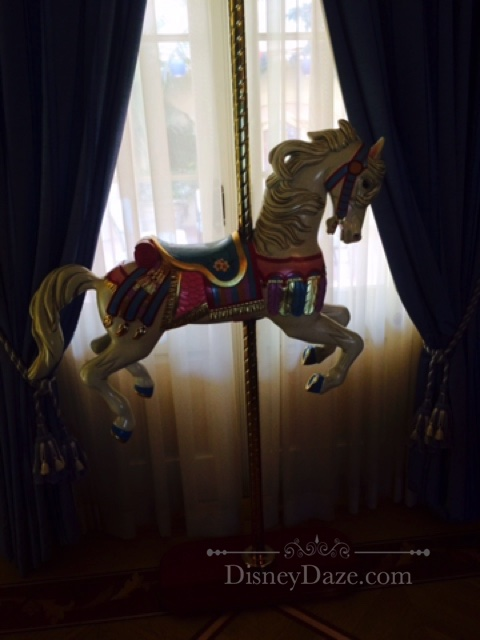 Mini Carousel Horse in Parlor