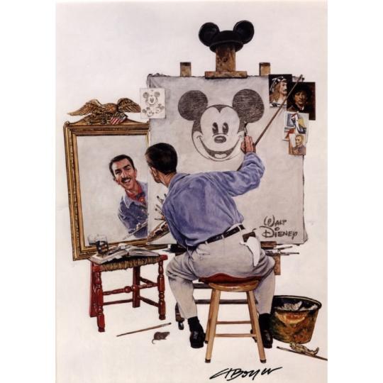"Walt Disney ""Triple Self Portrait"" by Charles Boyer"