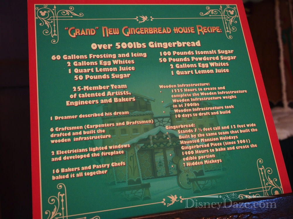 DCA gingerbread facts