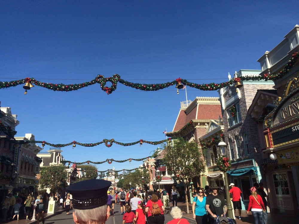 Main Street U.S.A - Disneyland. Dec 2014