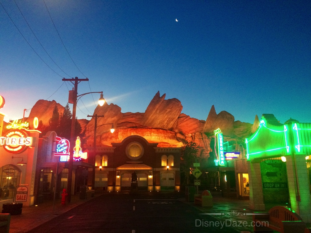 Radiator Springs just before sunset.