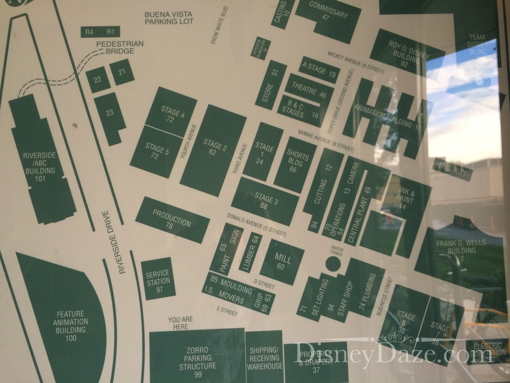 Map of the studio.
