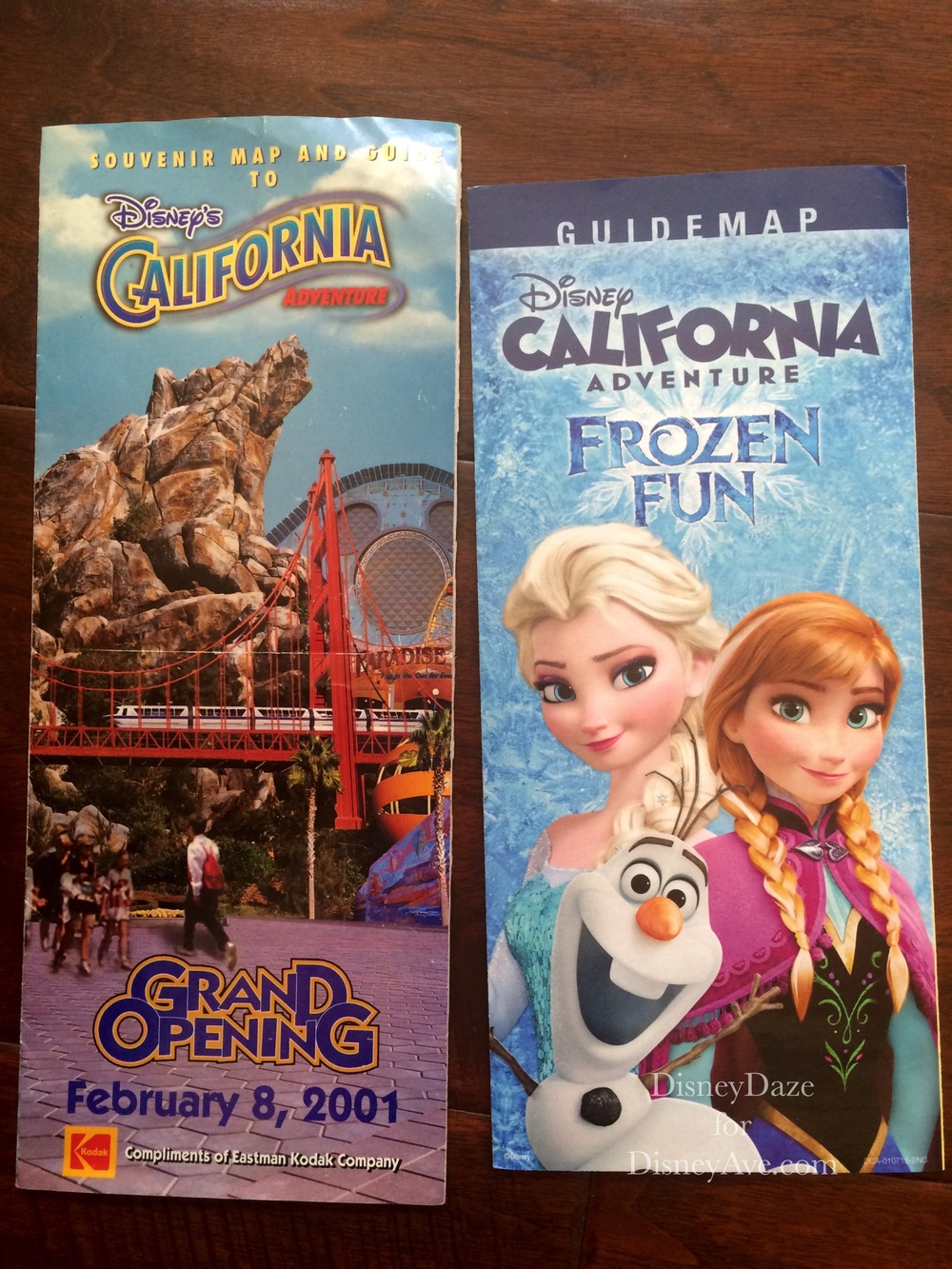 Grand Opening DCA Map Feb 8, 2001 and Current DCA Map Feb 8, 2015