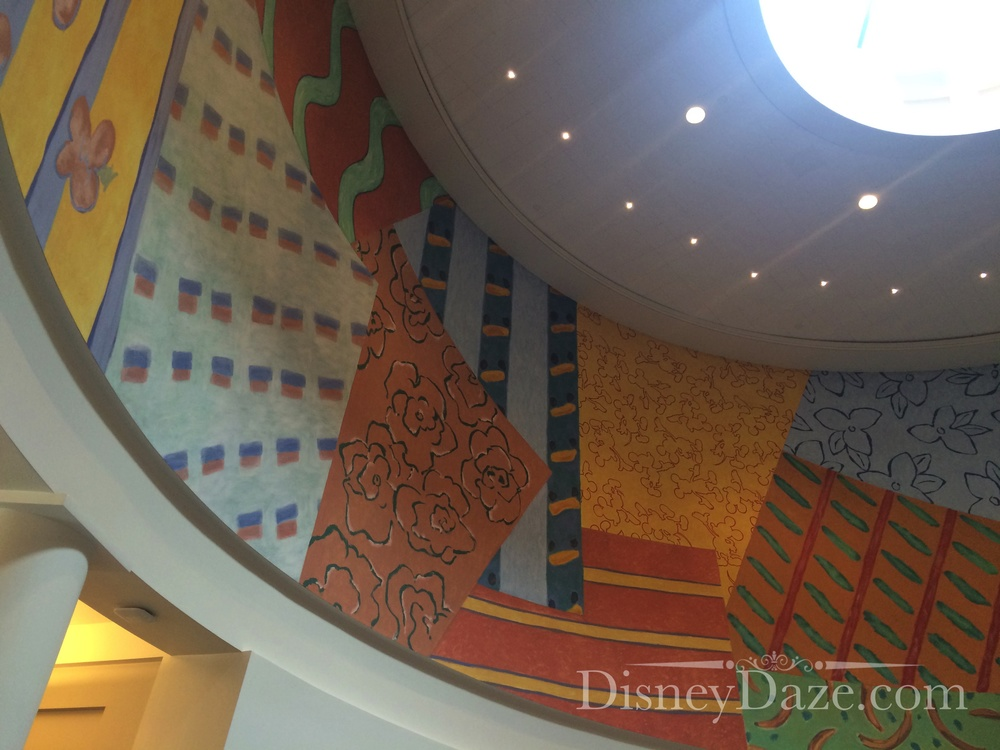 These originally were different carpet patterns designed by Michael Graves that were found throughout the Team Disney Building.