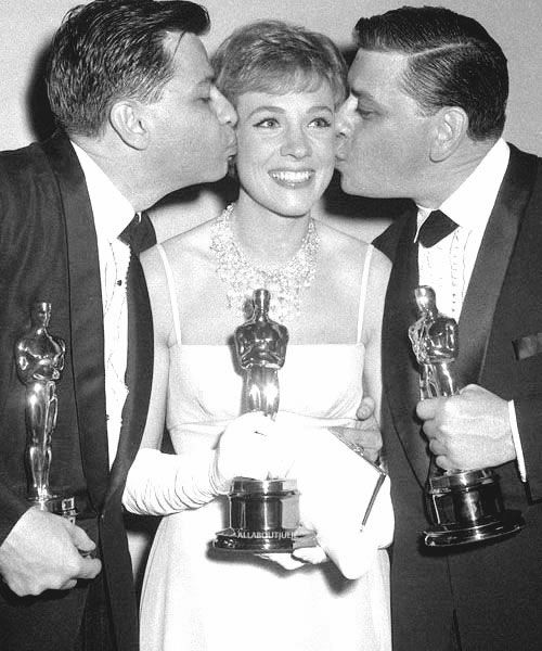 Disney Legends and Academy Awards winners, Richard and Robert Sherman with Julie Andrews. Photo from Google Images.
