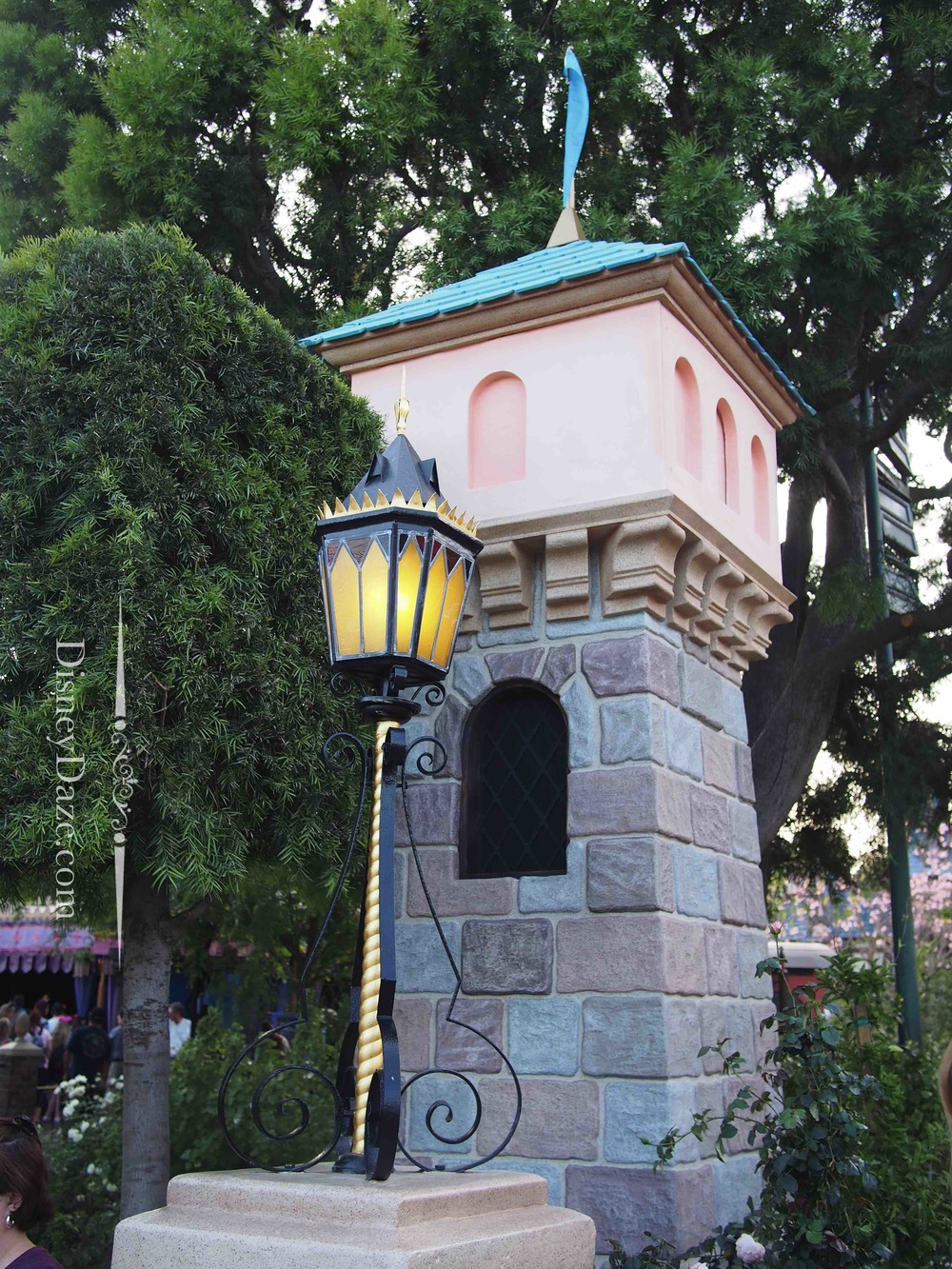 This tower is located westside of the Castle, closet to Fantasy Faire.