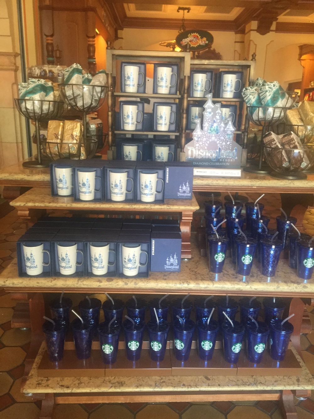 Skip the Starbucks line and check out the merch display inside Trolley Treats.