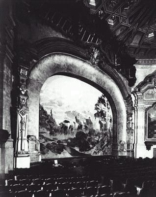 Theater curtain inside original Carthay Circle Theater