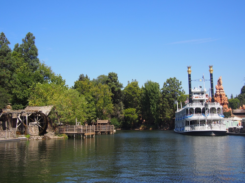 View from New Orleans Square of Rivers of America.