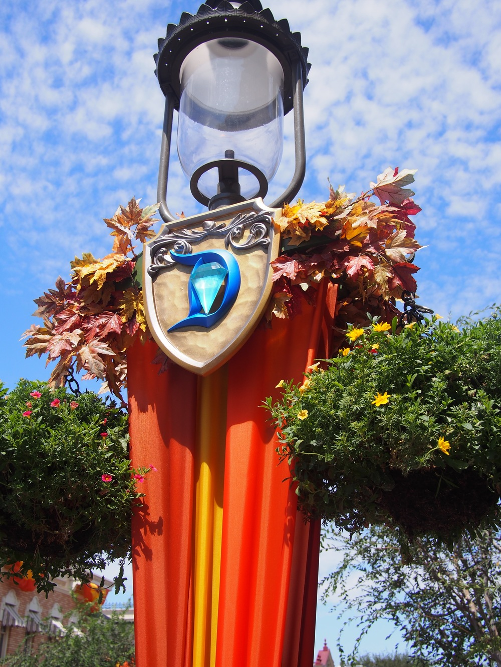 Diamond Celebration combined with Fall Disneyland Decor.