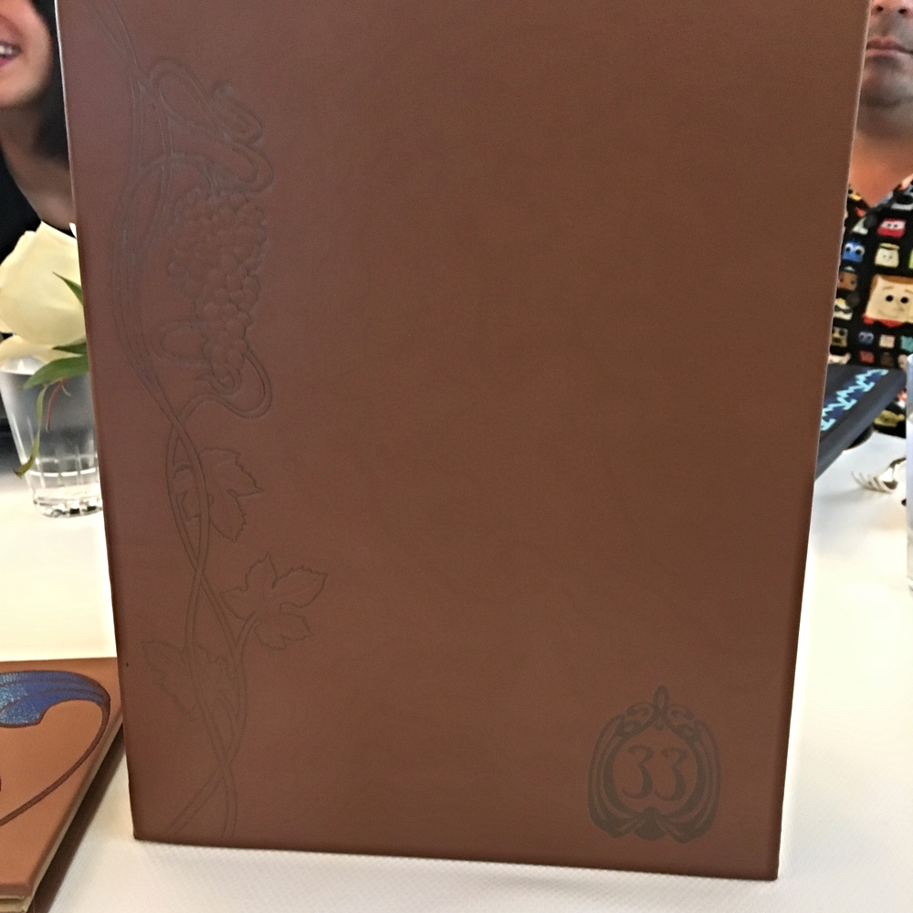 Club 33 Menu Book