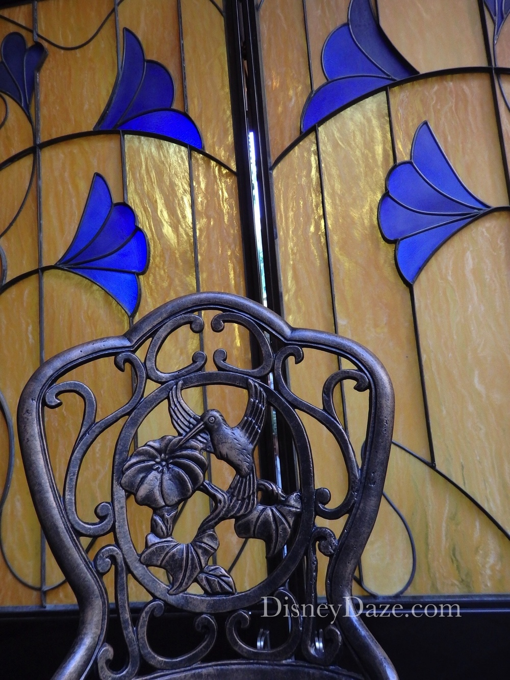 Club 33 Stained Glass door and chair