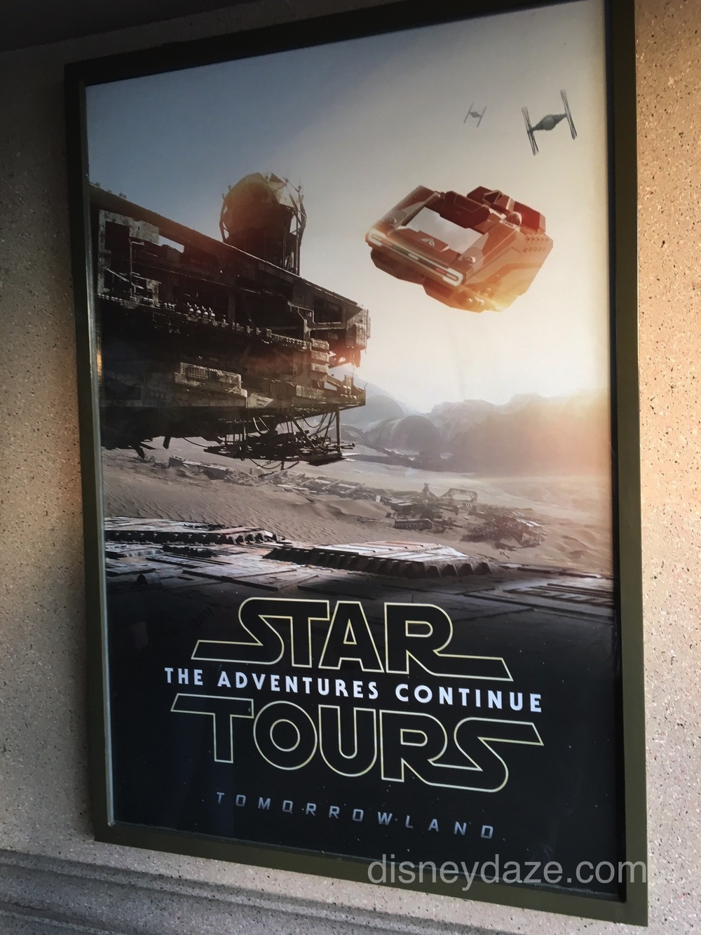 New Star Tours poster that you can view upon entering through the Main Street tunnels.