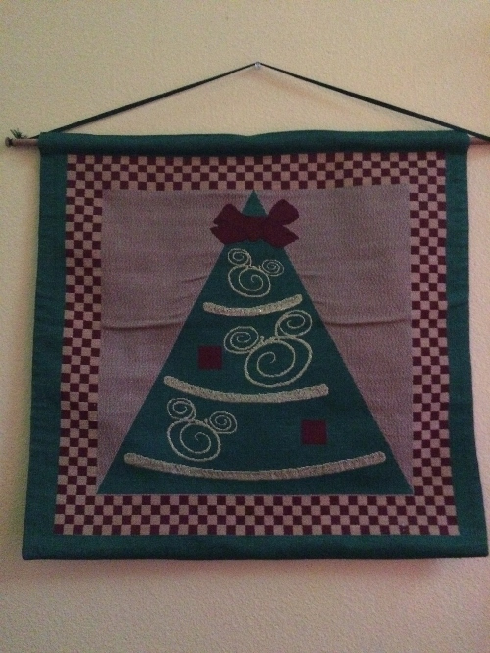 Disney Christmas banner/flag.