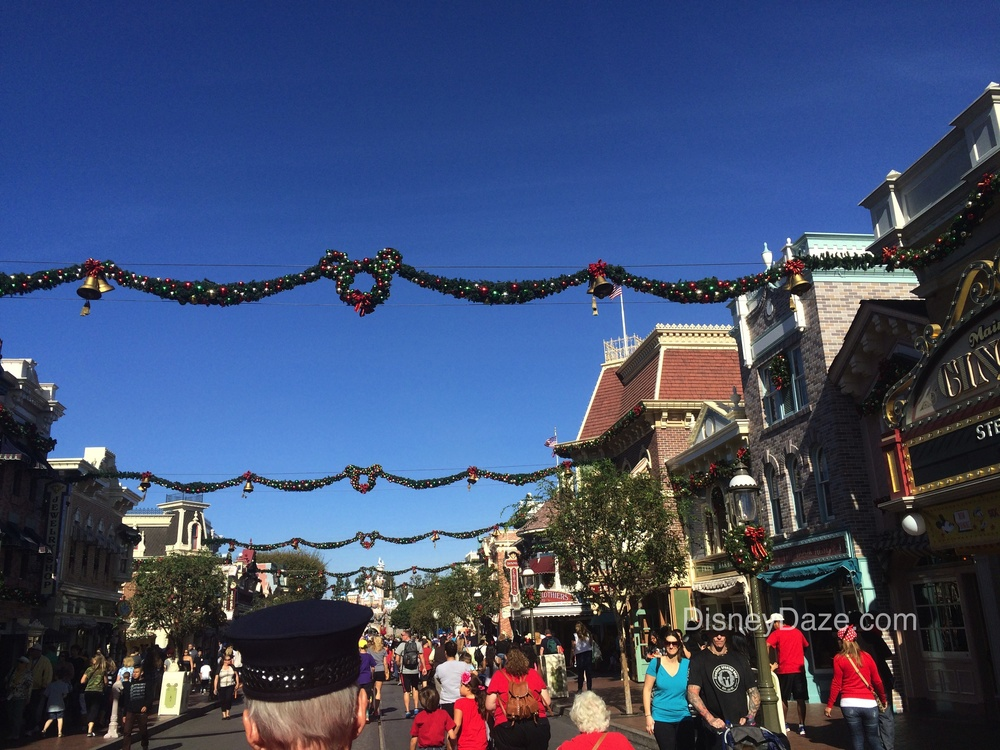 Main Street USA, Disneyland. Photo from December 2014