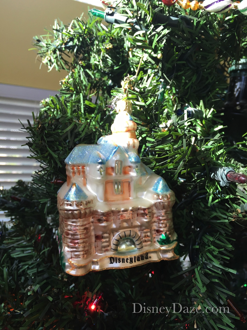 Radko glass ornament. Disneyland Castle.
