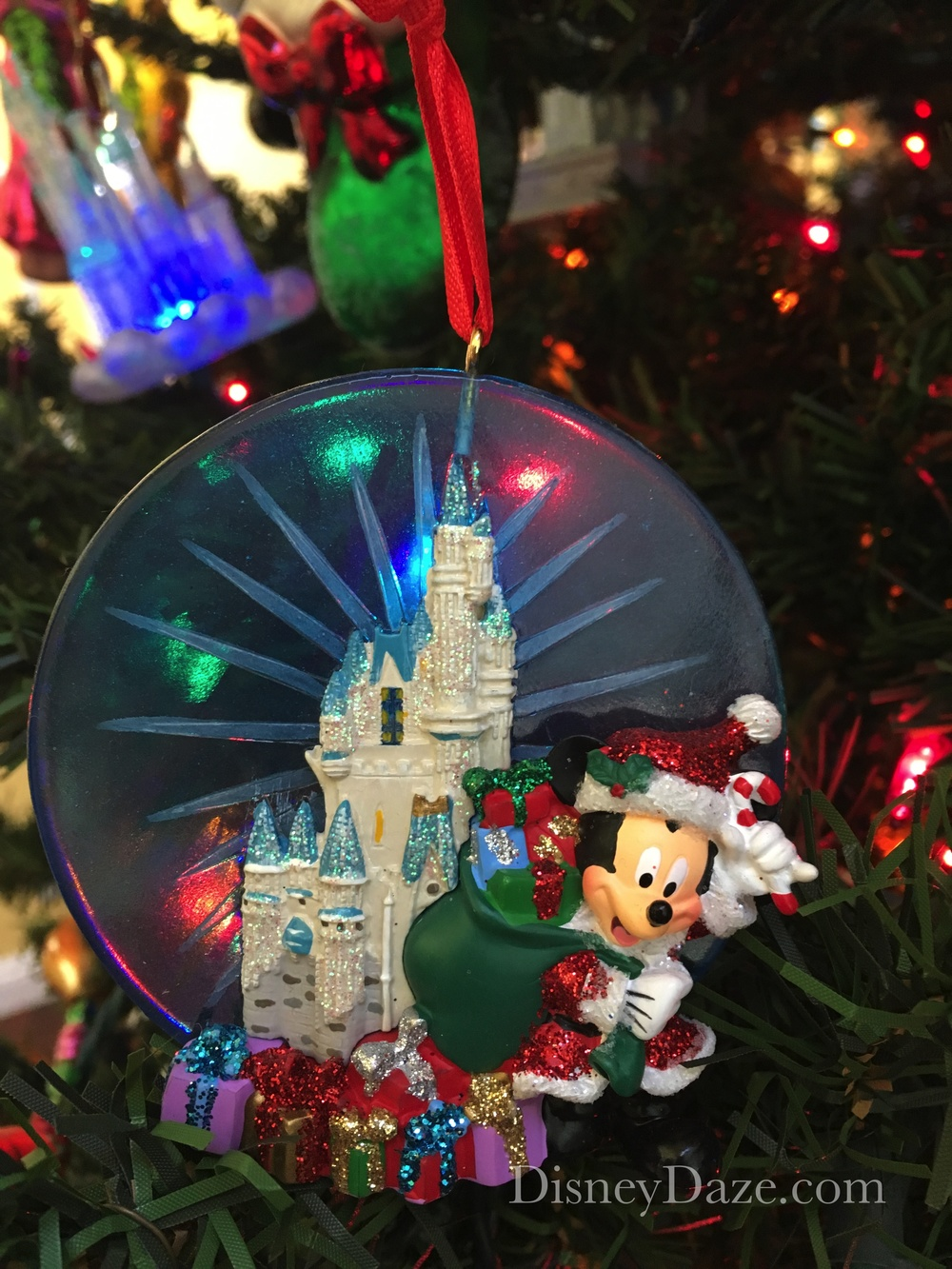 Plastic and resin Disney Parks ornament.