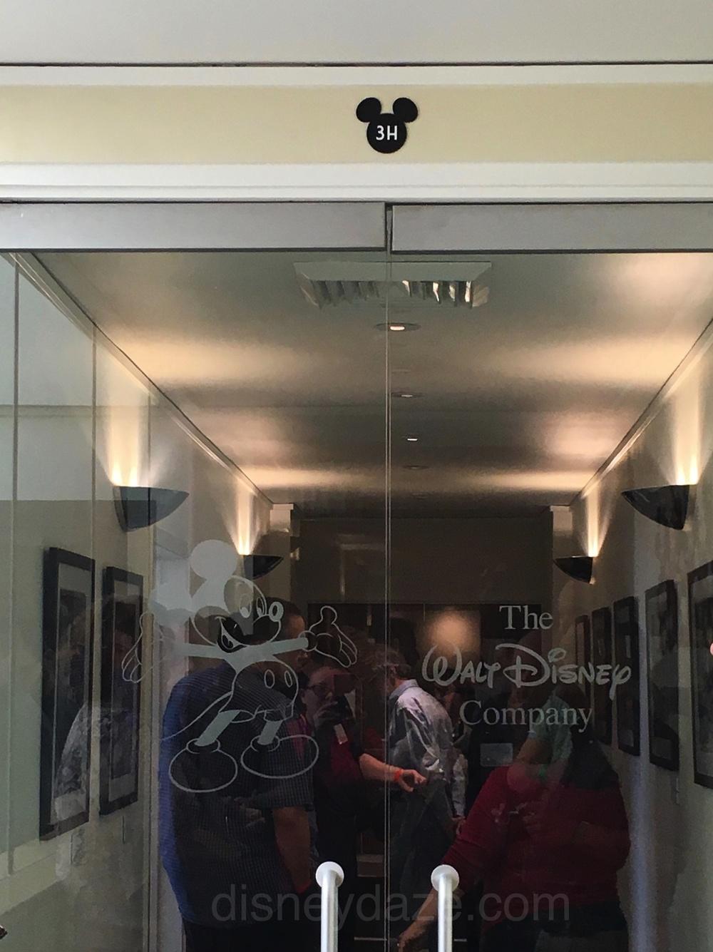 Doors that lead into Walt Disney's Office Suite at Walt Disney Studios.
