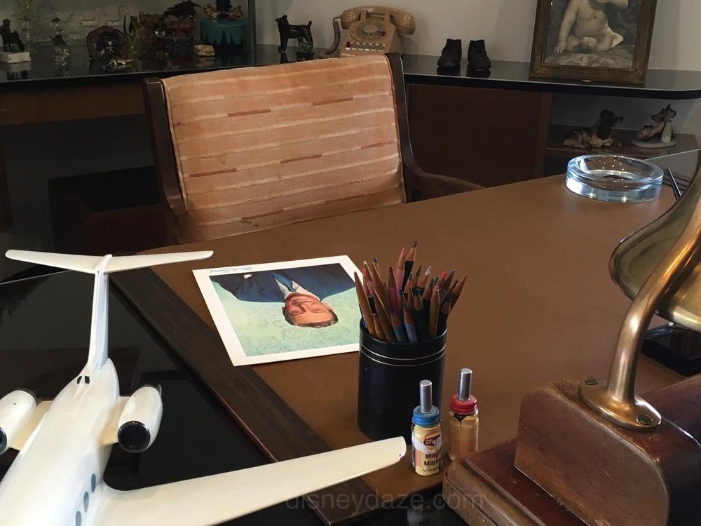 Walt Disney's desk