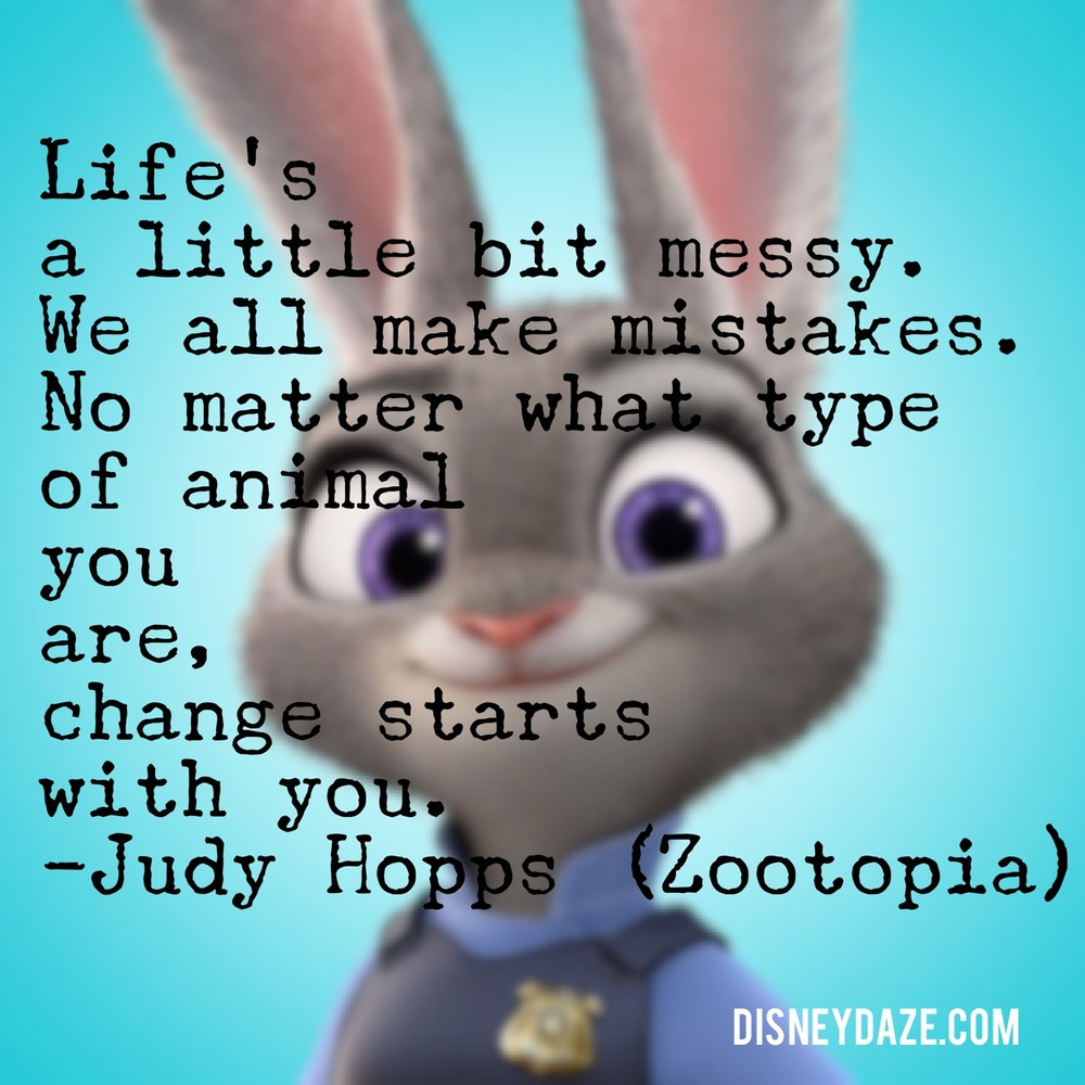 Wednesday Words: Judy Hopps on Making Life Mistakes — DisneyDaze