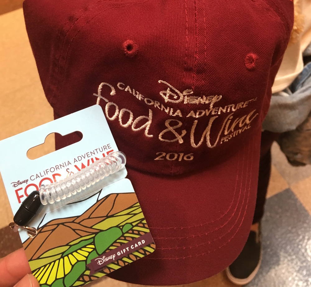 Food & wine wearable gift card & 2016 event baseball cap (all separate purchases).