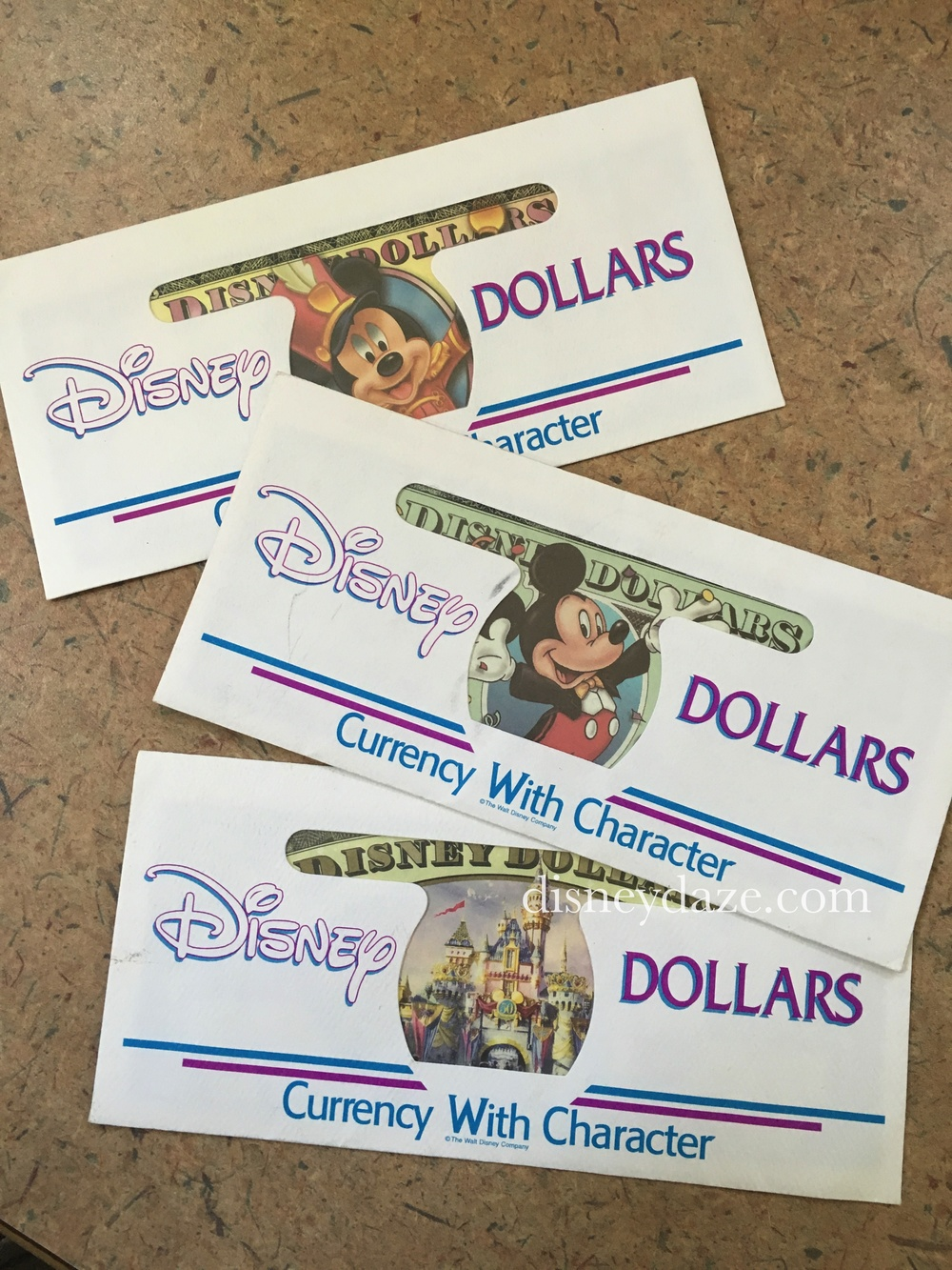 You could ask for special envelopes to protect your Disney money.
