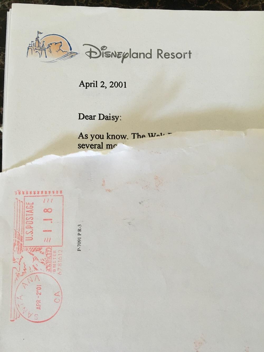 Disneyland Resort Letterhead design, 2001