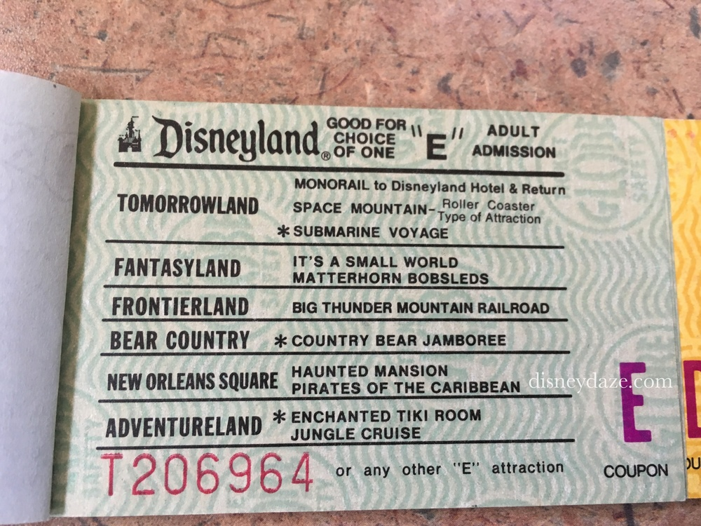 Disneyland E-Ticket (1980)