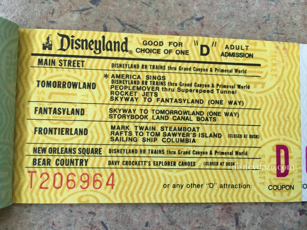 Disneyland D-Ticket (1980)